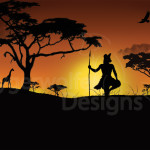 """African Sunset"" - personal artwork"