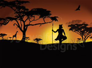"""African Sunrise"" - Personal Artwork"